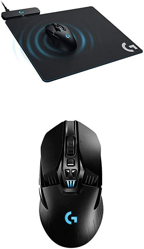 Logitech G Powerplay Wireless Charging System for G703, G903 Lightspeed Wireless Gaming Mice with G903 Lightspeed Wireless Gaming Mouse W/Hero 16K Sensor