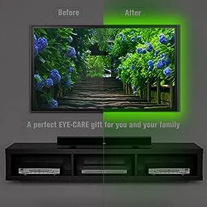 alotoa clairage de bias pour la tvhd 150cm 5v usb powered tanche led light strip eclairage. Black Bedroom Furniture Sets. Home Design Ideas