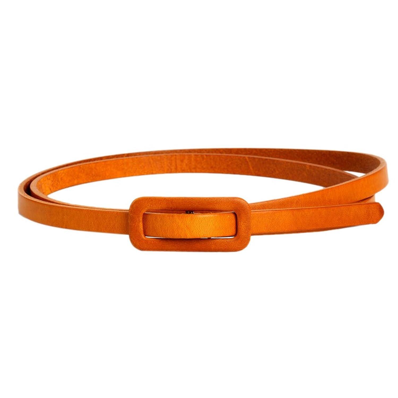 Mlotus Casual Fashion Genuine Leather Belt Skinny Narrow Belts for Ladies Dress