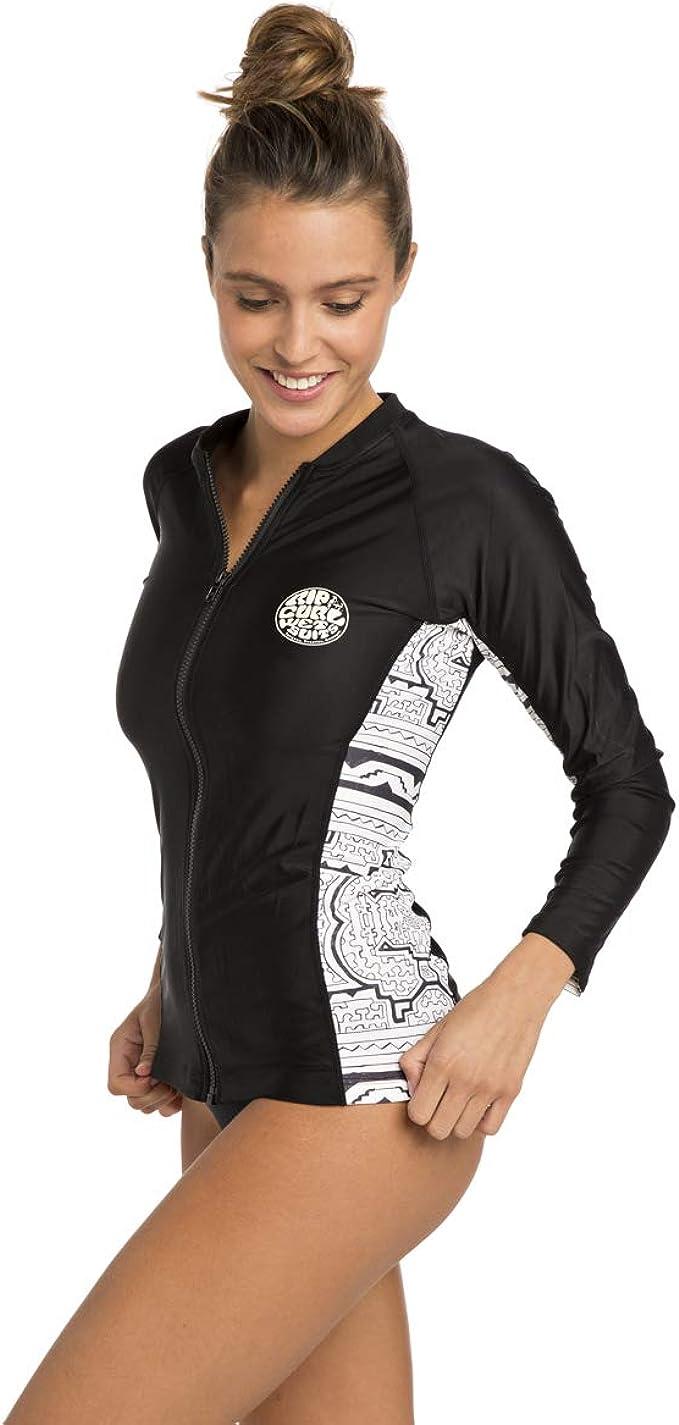 Long Sleeve Zip Rashguard Shirt