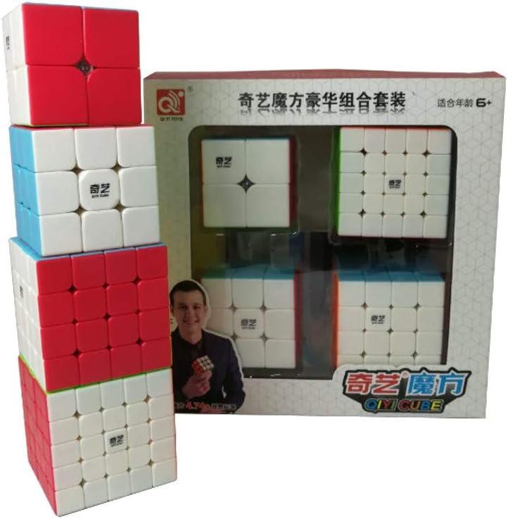 QiYi Pack Cubos 4 en 1 (2x2, 3x3, 4x4, 5x5) - Stickerless