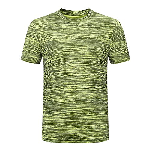 Vowes Fashion Mens Wicking Tops Breathable Sports Short Sleeve T-Shirt Quick-Drying Slim Fit Casual T-Shirt Blouse