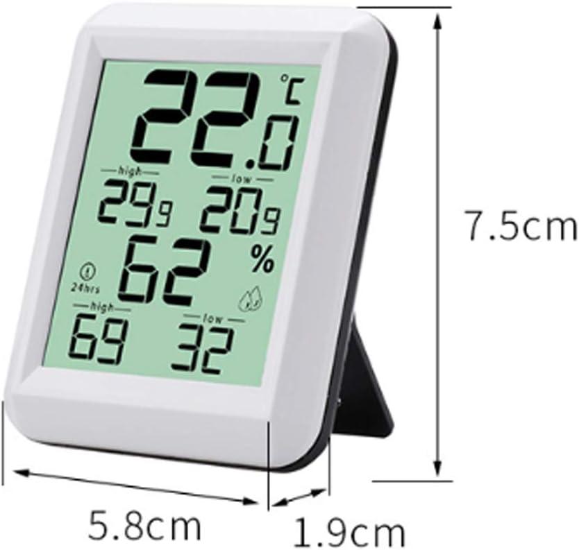 Sal/ón 0℃ ~ +60℃,Blanco Hogar Casa MathRose Higr/ómetro Term/ómetro Medidor para Temperatura y Humedad Oficina Digital Termohigr/ómetro Interior