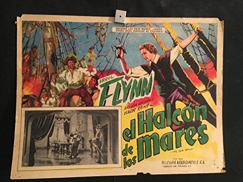 The Sea Hawk 1940 Original Vintage Mexican Lobby Card Movie Poster, Errol Flynn, Claude Rains, Brenda Marshall
