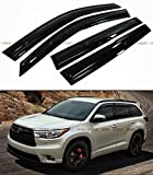 JDM MUGEN 3D STYLE SMOKED WINDOW VISOR VENT SHADE FOR 2014-2016 TOYOTA HIGHLANDER HIGH LANDER