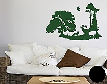 Klebefieber Wandtattoo Waldlichtung B X H 90cm X 59cm Farbe