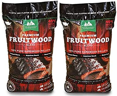 Green Mountain Grills Premium Fruitwood Pure Hardwood Grilling Cooking Pellets (2-Pack)