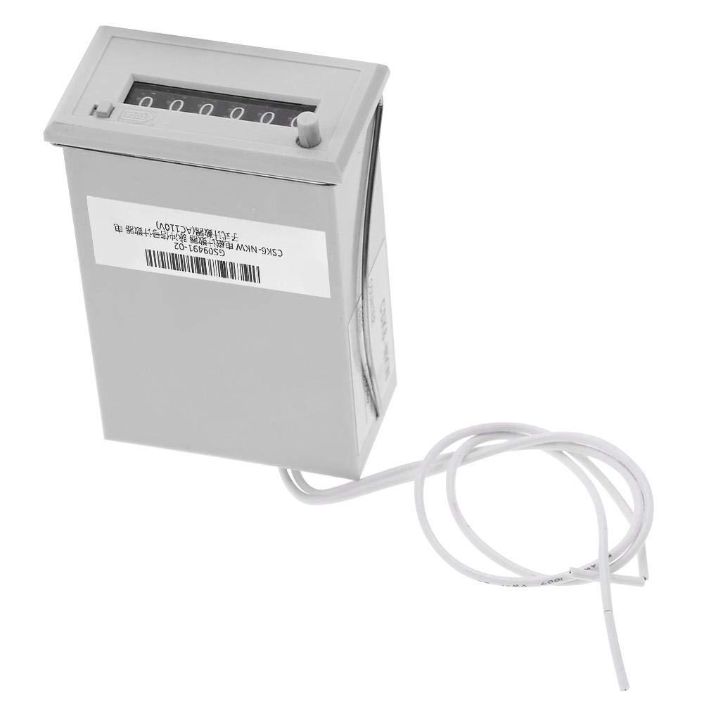 Electromagnetic Counter 6 Digit Electromagnetic Pulse Counter CSK6-NKW AC220V DC24V DC 12V AC110V 2#
