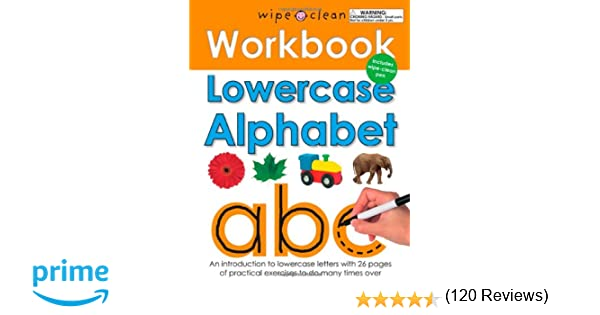 Amazon.com: Wipe Clean Workbook Lowercase Alphabet (9780312508685 ...