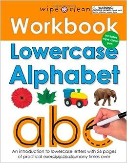 Wipe Clean Workbook Lowercase Alphabet: Amazon.ca: Roger ...