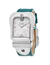 Fendi Women's 'B.' Swiss Quartz Stainless Steel and Leather Dress Watch, Color:Blue (Model: F380014581D1)
