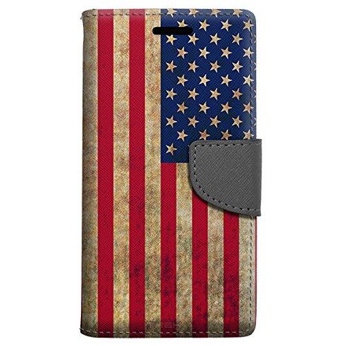 Samsung Galaxy Amp Prime Wallet Case - Retro American Flag Case