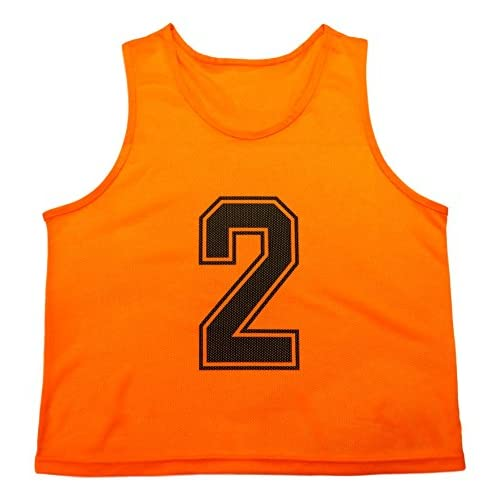 2c87fe97437 Oso Athletics Set of 12 Premium Mesh Numbered Scrimmage Vests Pinnies Team Practice  Jerseys with Carrying