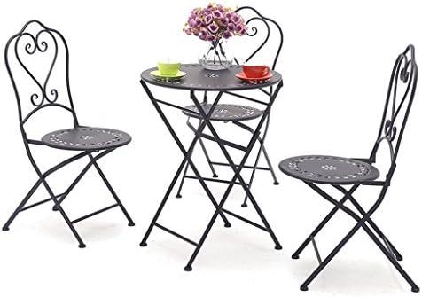 Amazon.com: YXYH Juego de sillas Bistro para exteriores ...