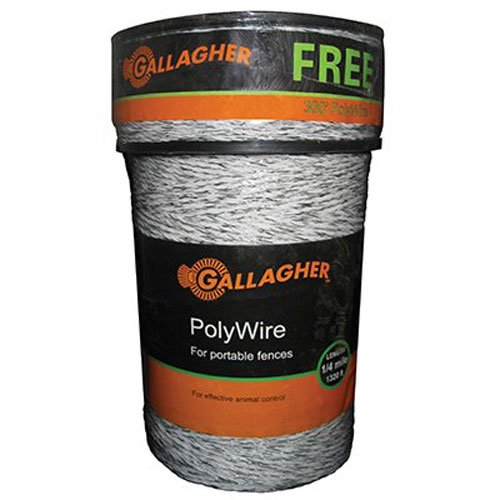 Gallagher G620300 Electric Polywire Fence Combo Roll, 1312-Feet