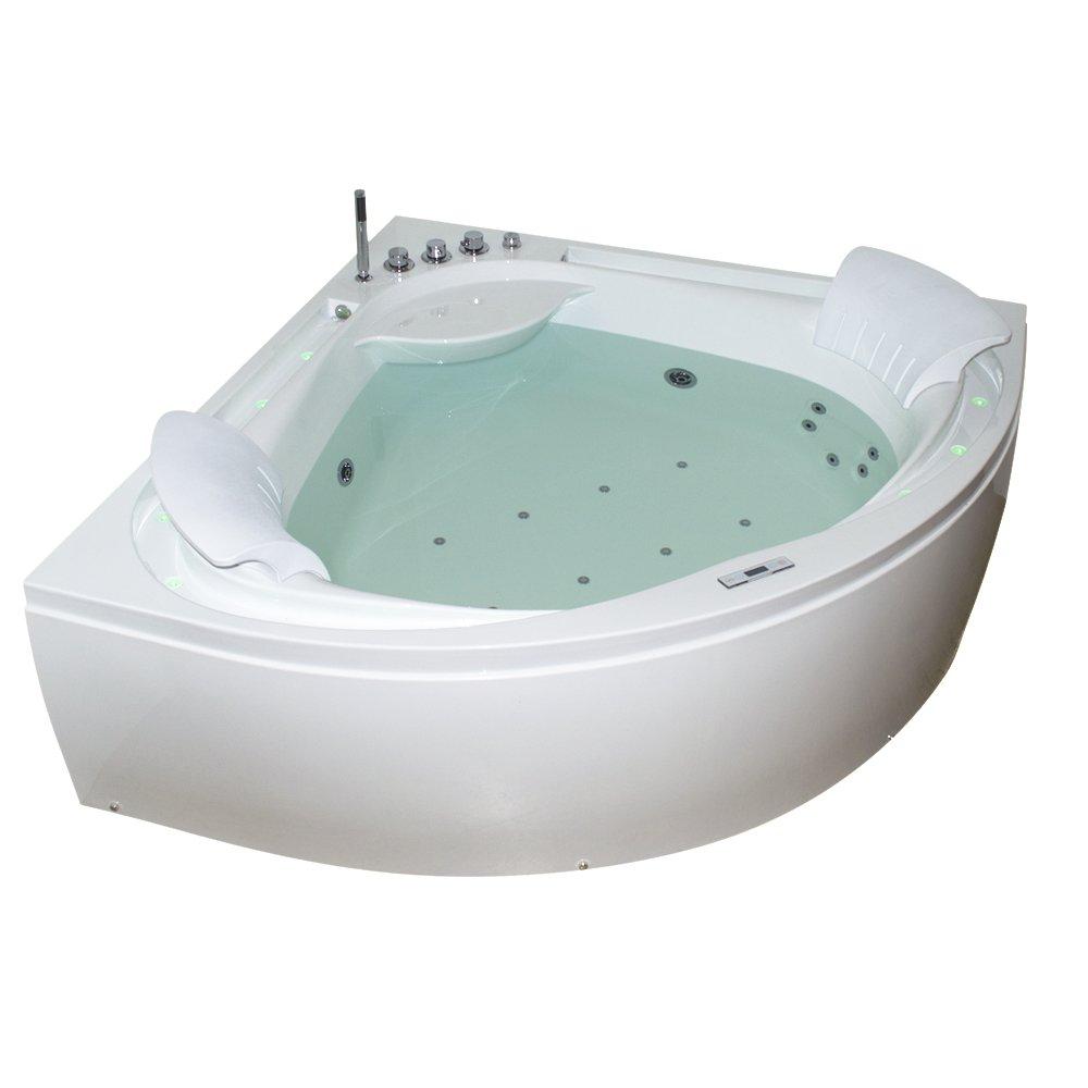 TroniTechnik Whirlpool Badewanne ANDROS 160cm X 160cm Inkl. Heizung,  Hydromassage, Bachlauf Und Farblichtherapie: Amazon.de: Küche U0026 Haushalt