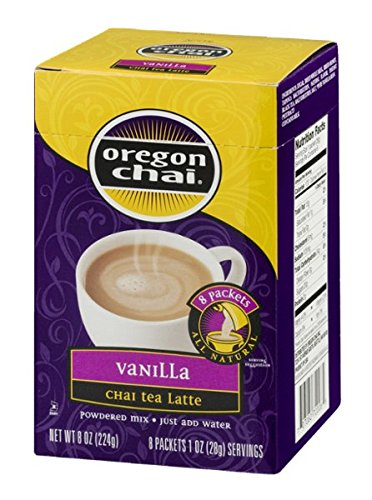 Oregon Vanilla Tea Chai - Oregon Chai Vanilla Chai Tea Latte - 8 ct