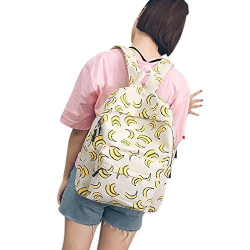 Tela Anguria Banane Beige Studenti Di Modello Gli Stampa Per Yiwa Ananas Il Zaino Con PO4wRfvf