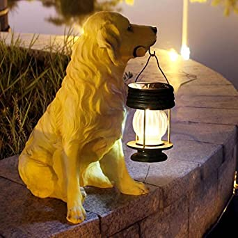 Resina Decoración para perros / Perro Luz solar exterior / Luz para jardín / Luz de