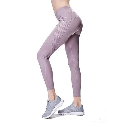 Pantalones de Yoga de Bolsillo Mujeres caladas Caderas ...