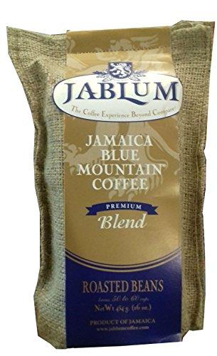 Jamaica Blue Mountain Premium Blend Whole Beans Coffee- 16 Ounces
