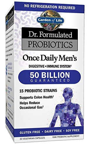 Garden of Life Probiotics Supplement for Men - Dr. Formulated Once Daily Men's for Digestive and Gut Health, Shelf Stable, 30 - Mall Gardens The