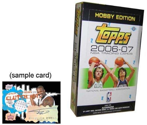2006 /07 Topps Basketball Cards Unopened Hobby Box (36 packs/box, 12 cards/pack)- Randomly inserted autographs of Larry Bird, Dwyane Wade, Adam Morrison & JJ Redick, plus hot new rookie cards - Basketball New 07