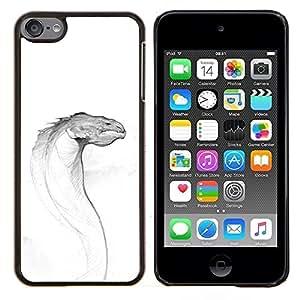 Eason Shop / Premium SLIM PC / Aliminium Casa Carcasa Funda Case Bandera Cover - Kraken Mar Criatura Sketch - For Apple iPod Touch 6 6th Touch6