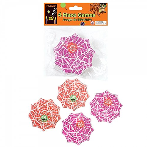 FLOMO Halloween Spider Web Maze Game Party Favors by