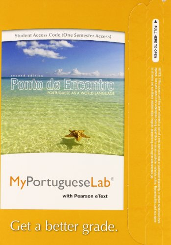 MyLab Portuguese with Pearson eText -- Access Card -- for Ponto de Encontro: Portuguese as a World Language (one semester access) (2nd Edition) (Card Portuguese)