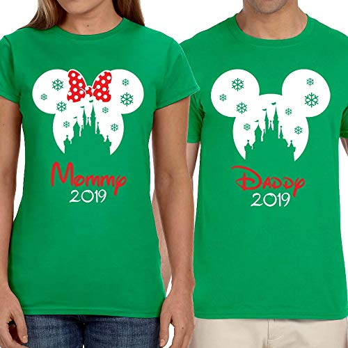 Disney Very Merry Christmas Party Mickey Minnie Snowflake Magic Kingdom Group Family Vacation Shirts Unisex Kids Baby Adult ()