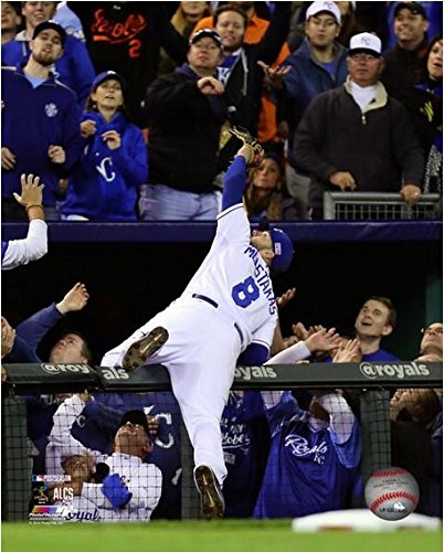 "Mike Moustakas Kansas City Royals 2014 ALCS Game 3 Action Photo (Size: 8"" x 10"")"