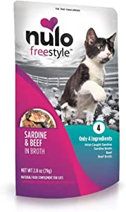 Nulo, Freestyle Sardine & Beef in Broth Cat Food Pouch, 2.8 oz