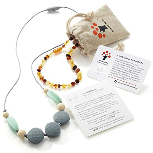 Amber Teething Necklace Baby MultiColor product image