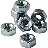 5/16-18 Zinc Coated Hex Nuts, Pack of 8