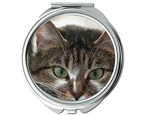 Mirror,makeup mirror,Whiskers cat mirror for Men/Women,1 X 2X Magnifying