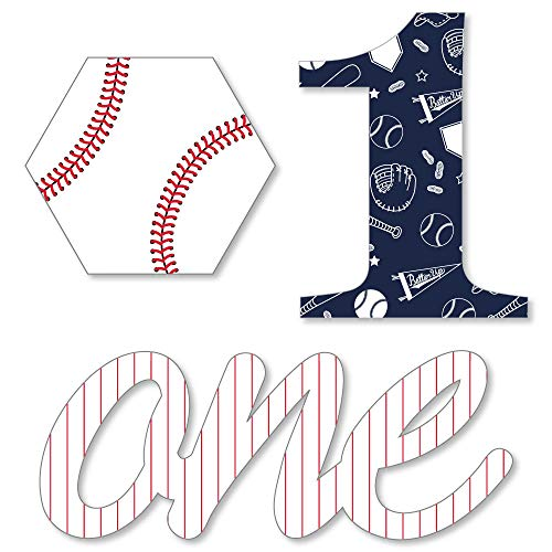 1st Birthday Batter Up - Baseball - DIY Shaped First Birthday Party Cut-Outs - 24 -