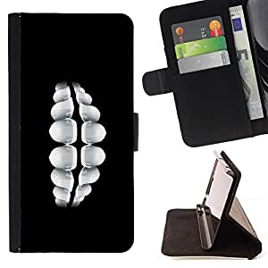 BETTY - FOR Samsung Galaxy S5 Mini, SM-G800 - Teeth Smile - Style PU Leather Case Wallet Flip Stand Flap Closure Cover