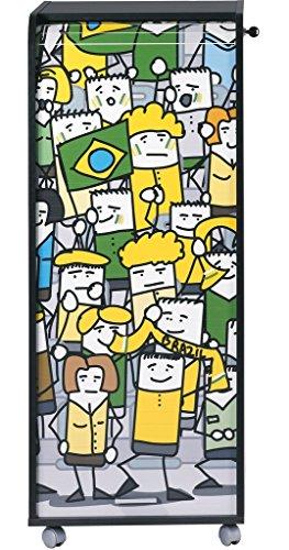 simmob orga110non959Brasilien Fans 959Waschtisch Aufbewahrungsschuppen Büro Trolley Holz schwarz 47x 47,2x 107,6cm