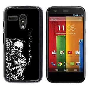 """FU-Orionis Impreso colorido protector duro espalda Funda piel de Shell para Motorola Moto G 1 1ST Gen - Parca - Goth Esqueleto"""""""