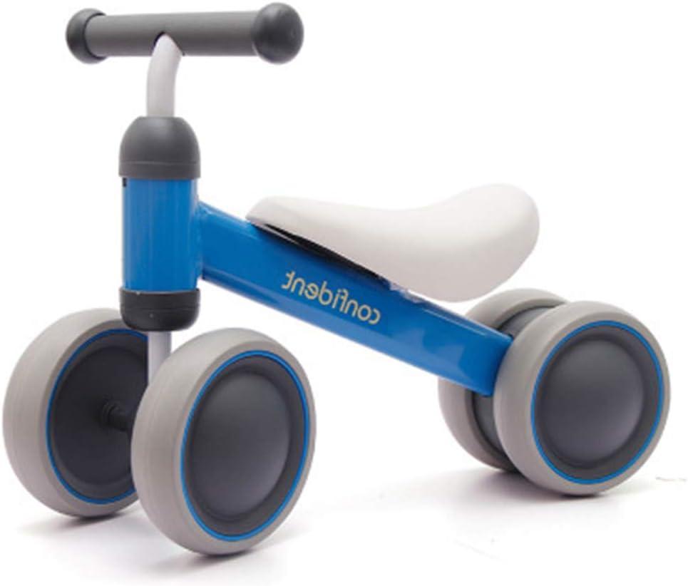 DFSSD Bebé Bicicleta de Equilibrio, Correr Infantil Formación de Bicicletas, n-Pedal, fácil de Poner, Dirección límite, Comodidad de los Asientos, Primer Regalo Bici del bebé,Azul