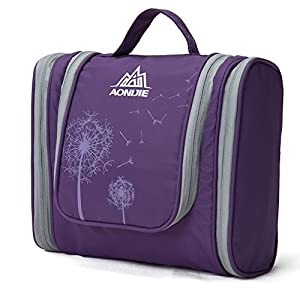AoMagic Large Capacity Travel Cosmetic Bag Shaving Bag On A Business Trip Purple