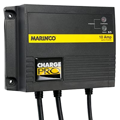 Marinco 28210 10A 2-Bank On-Board Battery Charger - 12/24V Electronics Accessories