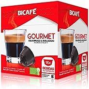 Cápsulas de Café Gourmet Equilibrado e Aveludado Bicafé, Compatível com Dolce Gusto, Contém 16 Cápsulas