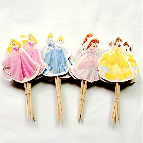Encore Buy 4 Princess Cupcake Topper Set -