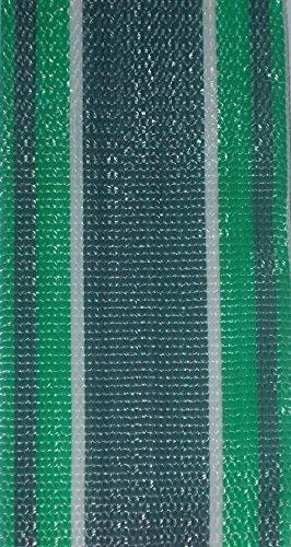 WebbingPro(TM) Green Stripe Lawn Chair Webbing 3 Inch Wide 92 Long Roll
