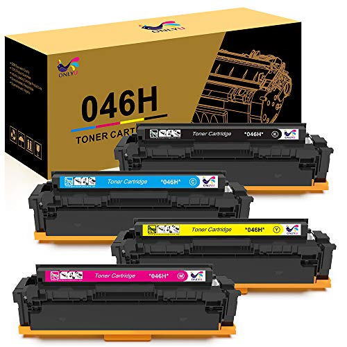 - ONLYU Compatible Toner Cartridge Replacement for Canon 046 046H for Color ImageCLASS MF735Cdw LBP654Cdw MF731Cdw MF733Cdw Laser Printer (4 Pack)