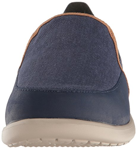 crocs Mens Santa Cruz Deluxe Slip-On Loafer Navy/Cobblestone