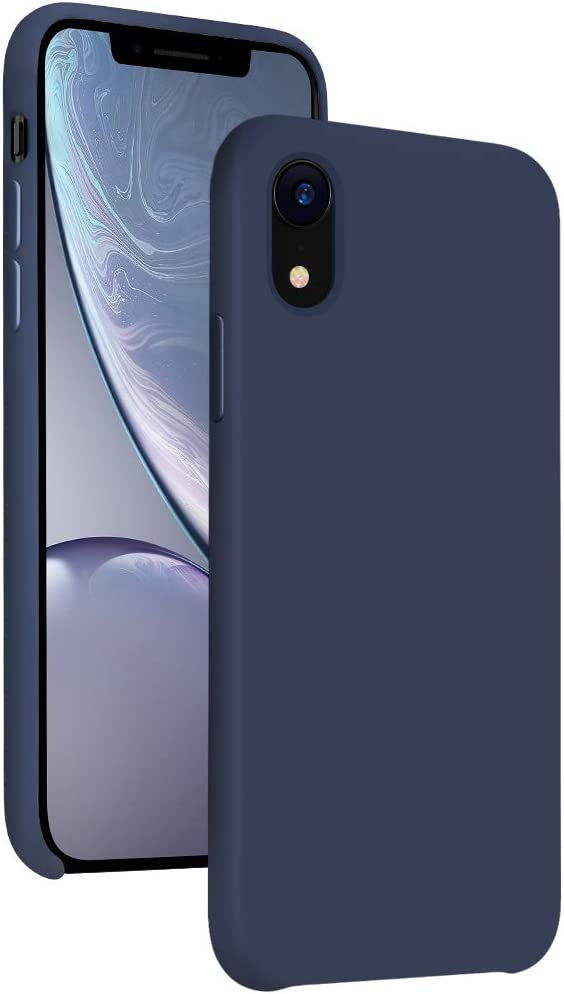 Diaclara iPhone XR Case Silicone, 6.1'' iPhone 10R Hybrid Cases Gel Rubber Liquid Silicone Cases Classic Bumper Shockproof Drop Protective Cover for Apple iPhone 2018(Blue, 6.1)