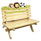 Fantasy Fields - Sunny Safari Animals Thematic Kids Wooden Outdoor Bench |Imagination Inspiring Hand Crafted & Hand Painted Details   Non-Toxic, Lead Free Water-based Paint